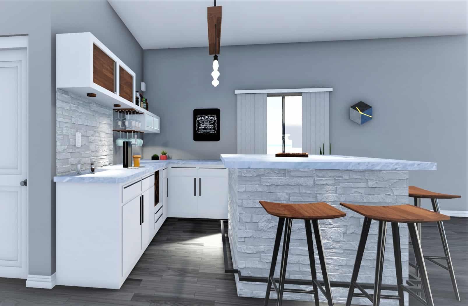 3D Kitchen Design - GI CONSTRUCTION